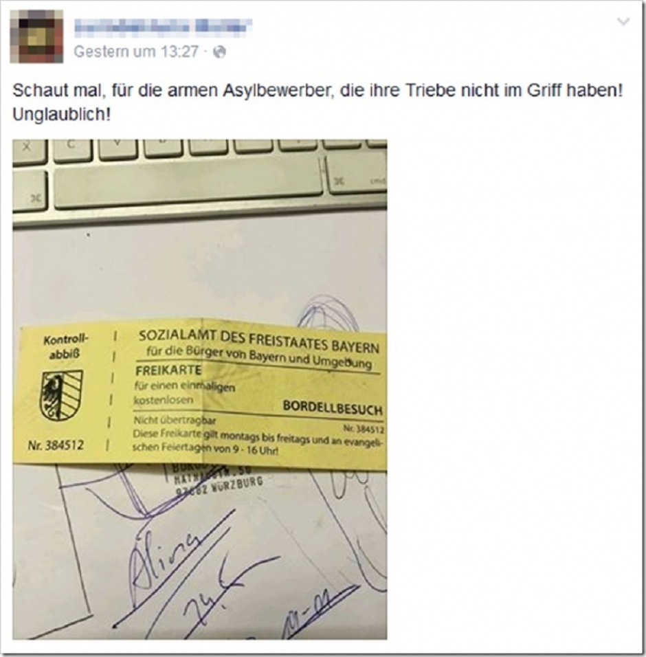 Fake Brothel Coupons for Refugees Cause Social Media Frenzy