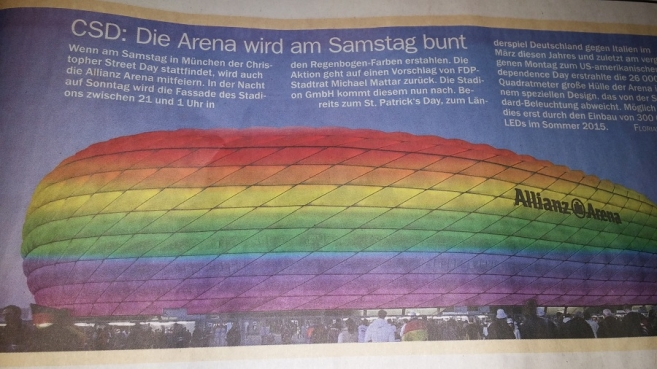 The Allianz Arena to Shine in Rainbow Colours for CSD