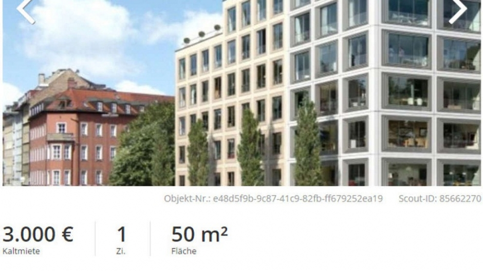 3,000€ a Month for 50 m² Apartment at Munich/Glockenbachviertel