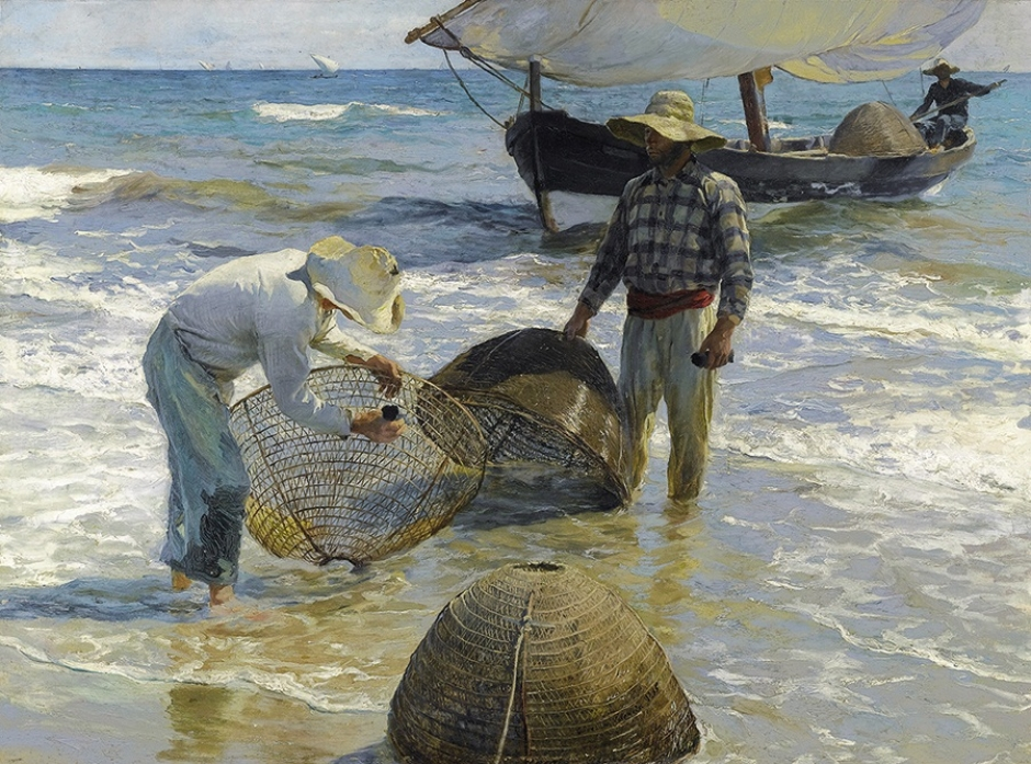 Joaquín Sorolla, Fishermen from Valencia, 1895, Oil on canvas, 65 x 87 cm, Collection Broere Charitable Foundation