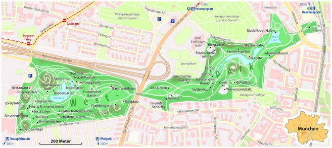 The Parks of Munich: Westpark