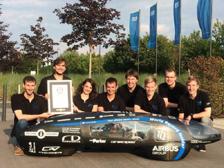 Guinness World Record for Electric Car Designed in Munich