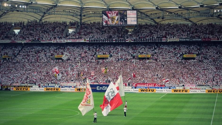 Inside the Gottlieb Daimler Stadium in Stuttgart
