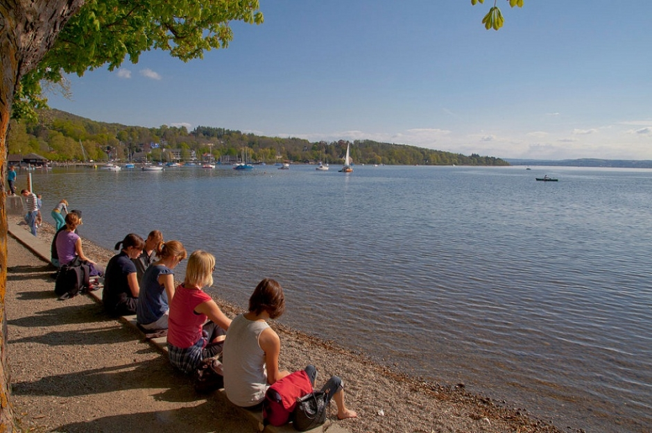 Herrsching at the Ammersee lake