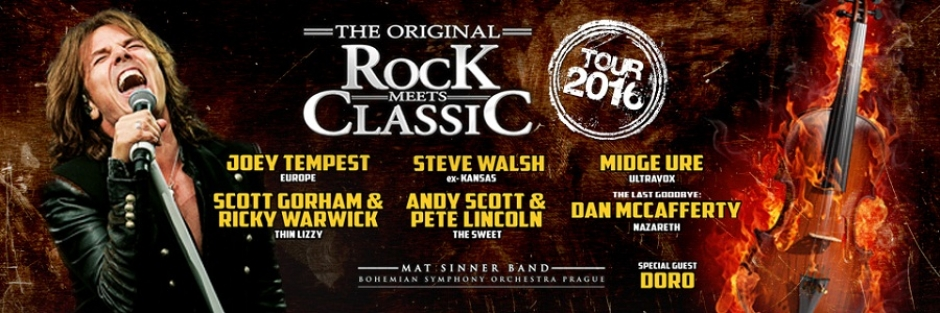 Concert: Rock Meets Classic with Joey Tempest, Steve Walsh & More