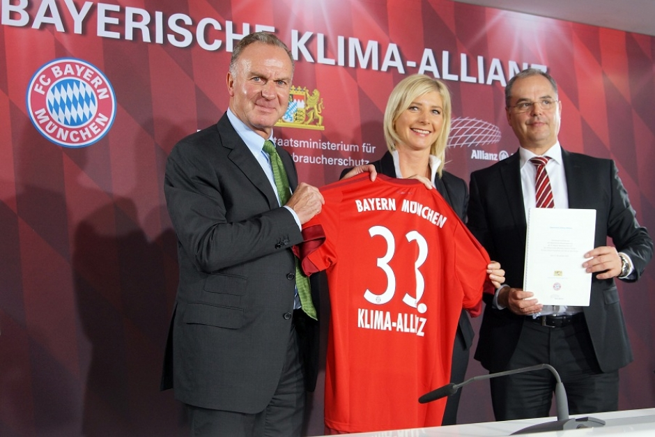 FC Bayern joins Bavarian Climate Alliance